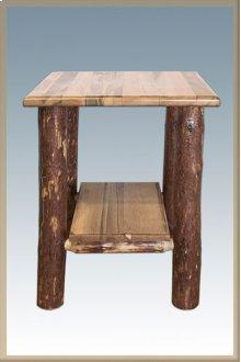 Glacier Country Log Nightstand with Shelf