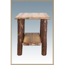 Glacier Country Log Nightstand with Shelf