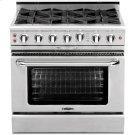 "36"" Gas Self Clean Range w/ Rorisserie in Oven, 6 Burners Product Image"