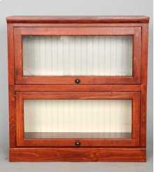 "#522-2 Lawyer Bookcase 2 piece 33""wx14""dx34""h"