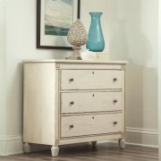 Huntleigh - Bachelor Chest - Vintage White Finish Product Image