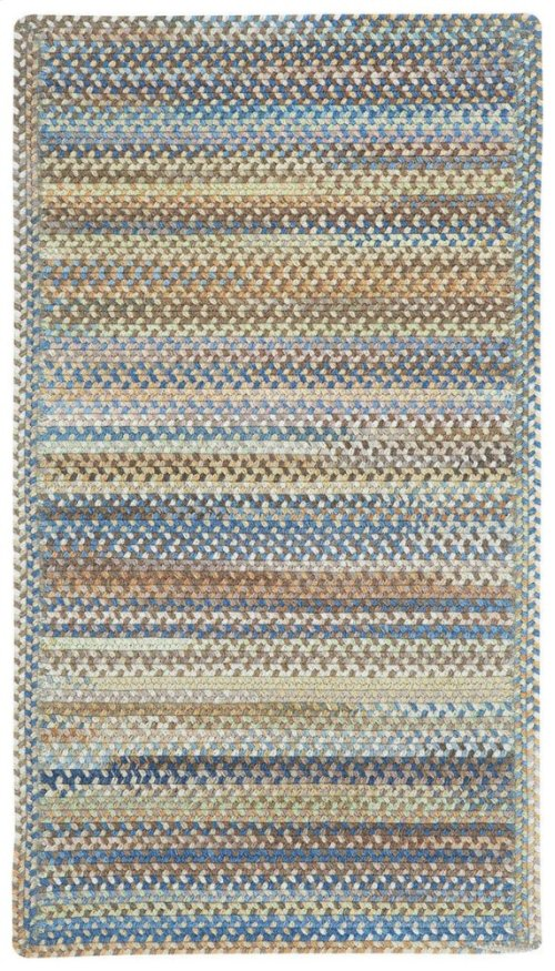 American Legacy Natural Blue Braided Rugs (Custom)