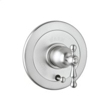 Polished Chrome Arcana Volume Control Pressure Balance Trim With Diverter with Arcana Cross Handle