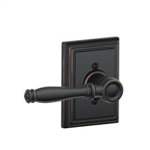 Birmingham Lever with Addison trim Non-turning Lock - Aged Bronze
