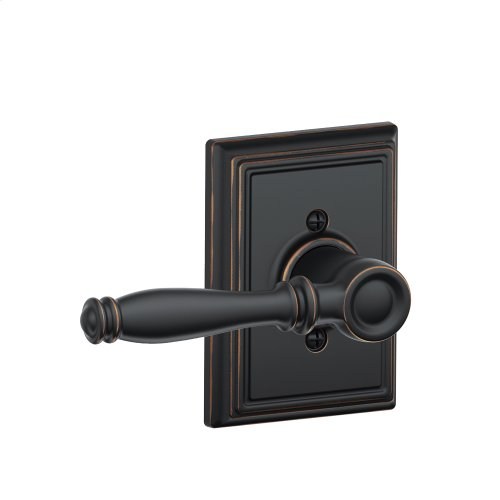 Birmingham Lever with Addison trim Non-turning Lock - Aged Bronze