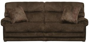 Power Headrest w/Lumbar Lay Flat Recl Loveseat w/Ext Ottoman