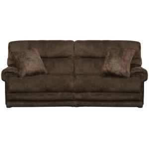Power Headrest Lay Flat Recl Sofa w/Ext Ottoman