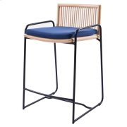 Virza Rattan Counter Stool, Deep Blue Product Image