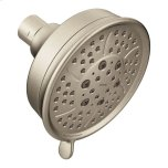 "Moenbrushed nickel four-function 4-3/8"" diameter spray head eco-performance showerhead"