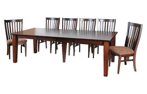"""42/60-2-20"""", *5/4 Thick Top*, *5*Large Tapered Leg Table"""