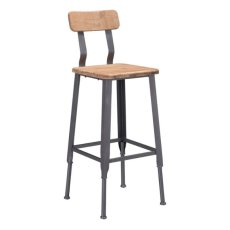Clay Bar Chair Natural Pine & Industrial Gray Product Image