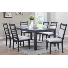 DLU-EL9282-C90-7PC  7 Piece Dining Set  Gray