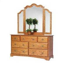 "Sierra Classic 65"" Dresser- Tri Mirror"