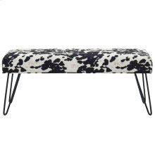 Angus Double Bench in Black