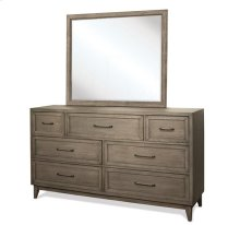 Vogue Landscape Mirror Gray Wash finish