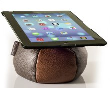 The Saddle Ipad Holder, Leather, Parquet / Mushroom