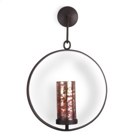 Oxidized Red Circle Wall Candleholder
