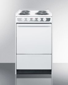 "20"" Wide Slide-in Electric Range In White With Lower Storage Compartment; Replaces Wem115r"