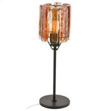 Blown Glass Orange Table Lamp