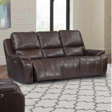 Potter Walnut Power Sofa
