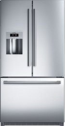 "Serie  8 36"" Standard Depth French Door Bottom-Freezer 800 Series - Stainless Steel B26FT70SNS Product Image"