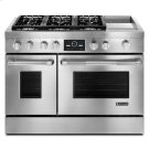 """Jenn-Air® Pro-Style® 48"""" Dual-Fuel Range with Griddle and MultiMode® Convection - Pro Style Stainless Product Image"""
