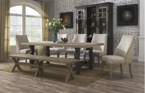 Emerald Home Barcelona Dining Extension Table Natural Top, Brown Legs D551-11-k