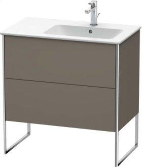 Vanity Unit Floorstanding, Flannel Grey Satin Matt Lacquer