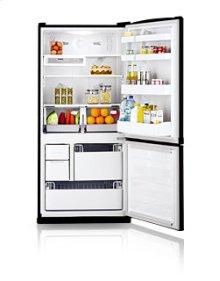 19.6 cu.ft. bottom freezer - black