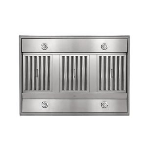 """Colonne Island - 42"""" x 30"""" Stainless Steel Island Range Hood with a choice of External or In-line blowers"""