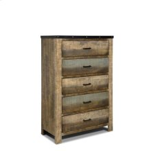 Sembene Antique, Multi-colored Chest