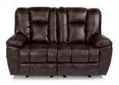 La Crosse Fabric Gliding Reclining Loveseat