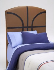 PU Youth Twin Headboard - Basketball