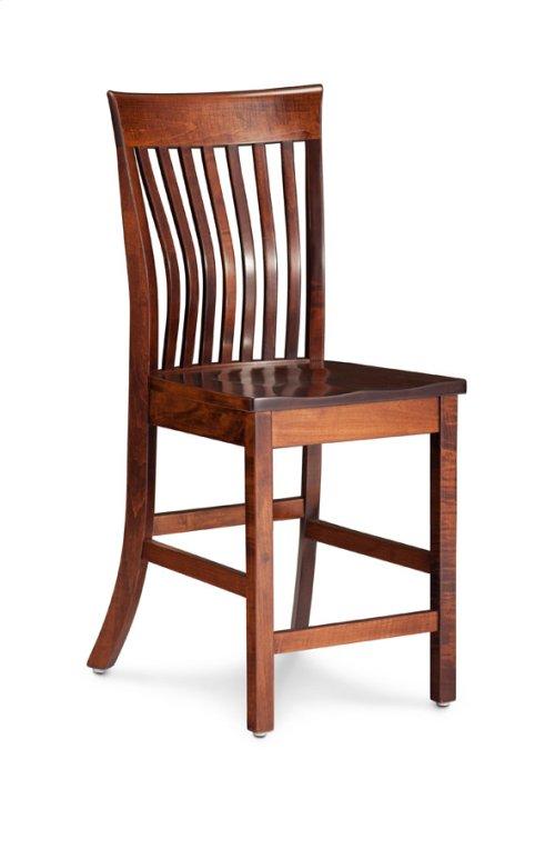 "Loft II Stationary Barstool, 24"" Seat Height"