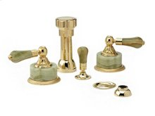 VERSAILLES Four Hole Bidet Set K4240 - Polished Brass