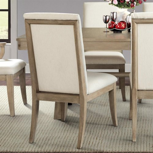 Sophie - Upholstered Side Chair - Natural Finish