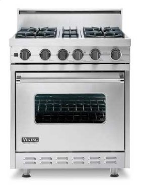 """Stone Gray 30"""" Sealed Burner, Self-Cleaning Range - VGSC (30"""" wide range with four  burners)"""
