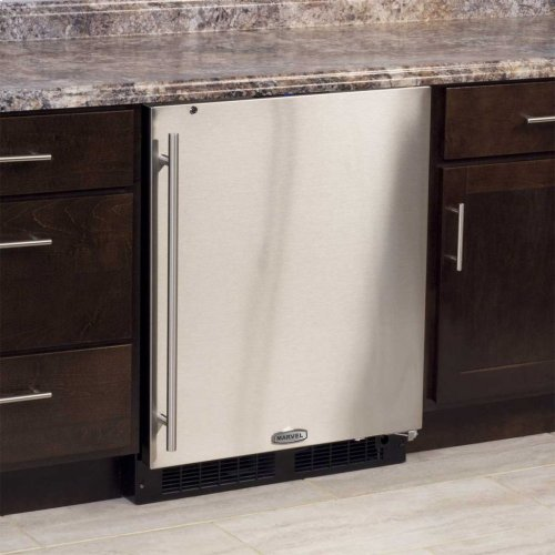 "Marvel 24"" ADA Height All Refrigerator - Solid Stainless Steel Door - Left Hinge"