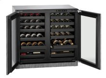 """Modular 3000 Series 36"""" Wine Captain® Model With Stainless Frame Finish and Double Doors Door Swing"""