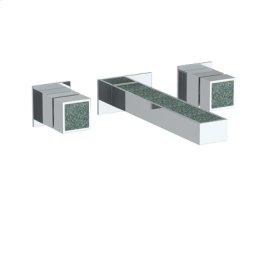 """Wall Mounted 3 Hole Lavatory Set With 7 1/8"""" Ctc Spout"""