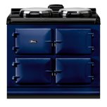 "Dual Control 39"" Electric Dark Blue with Stainless Steel trim"