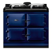 """AGA Dual Control 39"""" Electric Dark Blue with Stainless Steel trim"""