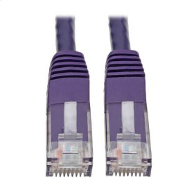 Premium Cat5/5e/6 Gigabit Molded Patch Cable, 24 AWG, 550 MHz/1 Gbps (RJ45 M/M), Purple, 25 ft.