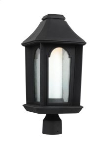1 - Light Outdoor LED Post Lantern