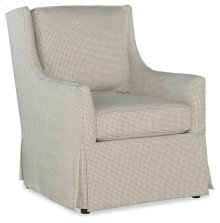 Domestic Living Room Hand Over Heart Skirted Club Chair 1082