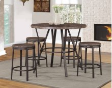 7877 Brown 5-Piece Counter Height Set