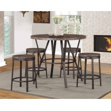 7877-7777 Brown 5PC Counter Height Set