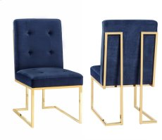 Akiko Navy Velvet Chair (Set of 2) Product Image