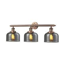 205-AC-G73 - LARGE GLASS BELL 3 LIGHT WALL BRACKET
