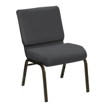Wellington Earth Upholstered Church Chair - Gold Vein Frame